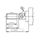 Cilinder ISO15552 ø50 slag 250 verlengd